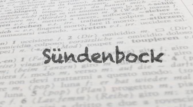 """Parola del giorno: """"Sündenbock"""""""