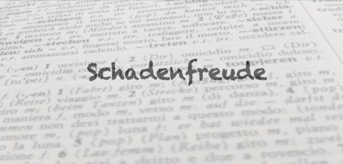 """Parola del giorno: """"Schadenfreude"""""""